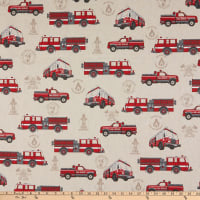 ArtCo Prints Fire Truck Emergency Duck Natural/Red