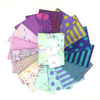 Tula Pink Tula's True Colors Fat Quarter Bundle 16 pcs Peacock