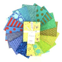 Tula Pink Tula's True Colors Fat Quarter Bundle 16 pcs Starling