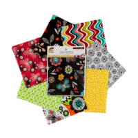 "Fabric Editions Notebook Floral 5"" Squares 21Pcs Multi"