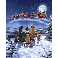 "Christmas Midnight Meeting Digital 35"" Panel Multi"