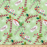 Tis the Season Christmas Candy Canes Multi/Green