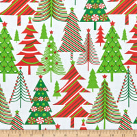 Tis the Season Modern Christmas Trees Multi
