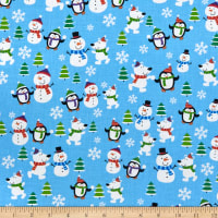 Tis the Season Winter Friends Multi/Blue