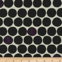 Kaufman Sevenberry Cotton Flax Prints Onions Black