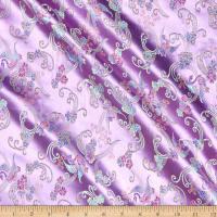 Fabric Merchants Chinese Brocade Floral Swan Lilac