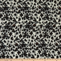 Fabric Merchants Hacci Stretch Knit Animal Cheetah Print Taupe/Brown/Gray