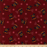 Polyurethane Laminate Snow Dog Red