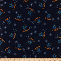 Polyurethane Laminate Snow Dog Navy