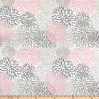EXCLUSIVE Premier Prints Blooms Cotton Duck Baby Pink