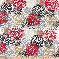 EXCLUSIVE Premier Prints Blooms Cotton Duck Timber