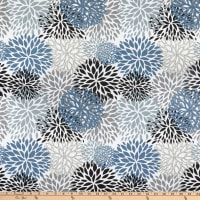 EXCLUSIVE Premier Prints Blooms Cotton Duck Slate