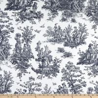 EXCLUSIVE Premier Prints Colonial Toile Cotton Duck Blue