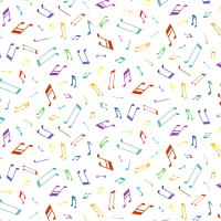 Michael Miller Woodland Musicians Musical Notes Bright white