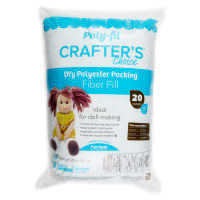 Poly-Fil Crafter's Choice Dry Packing Fiber Fill 20 Ounce Bag White