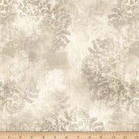 Hoffman Digital Vintage Farmhouse Damask Natural
