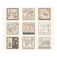 """QT Fabrics Digital Cotton Couture Sewing Patches 36"""" Panel Cream"""