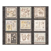 """QT Fabrics Digital Cotton Couture Sewing Patches 36"""" Panel Grey"""