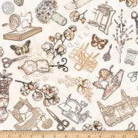 QT Fabrics Digital Cotton Couture Sewing Toss Cream