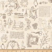 QT Fabrics Digital Cotton Couture Sewing Toile Cream