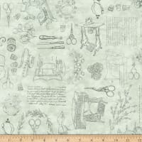 QT Fabrics Digital Cotton Couture Sewing Toile Green