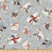 QT Fabrics Digital Woodland Buddies Patches Gray