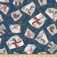 QT Fabrics Digital Woodland Buddies Patches Denim