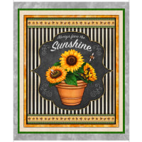 "QT Fabrics Digital Always Face Sunshine 36"" Sunflower Panel"