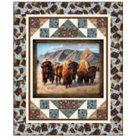 "QT Fabrics Roam Free Buffalo Nation 63""x77""Quilt Kit"