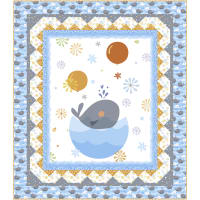 """QT Fabrics Whale Of A Time 54"""" x 62"""" Quilt Kit"""