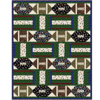 "QT Fabrics Football 58"" x 72"" Quilt Kit"