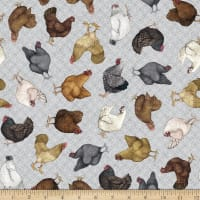 QT Greener Pastures Chickens Gray