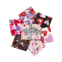 QT Fabrics Sweethearts Fat Quarter Bundle 6 Pcs Multi