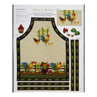 "Henry Glass Farm To Market 36"" Rooster Panel Cream"