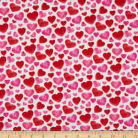 Henry Glass Heart & Soul Small Hearts Allover Red/Pink/White