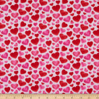 Henry Glass Heart & Soul Small Hearts Allover Pink/Red