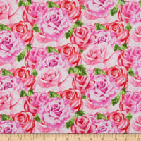 Henry Glass Heart & Soul Packed Roses Pink