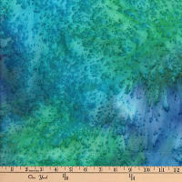 Monet Blender Texture Batik Blue/Aqua/Green