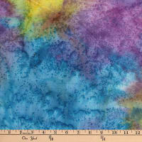 Monet Blender Texture Batik Purple/Turquoise/Yellow