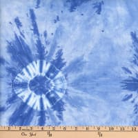Indian Batik Wind Cave Tie-Dye Circles Blue