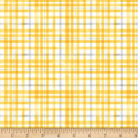 Michael Miller Queen Bee Beehive Plaid Yellow