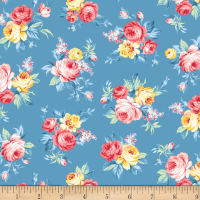 Michael Miller Fabrics Country Cottage Locally Grown Blue