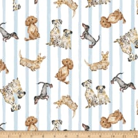 Michael Miller Fabrics Paws Up! Dog Friendly Blue