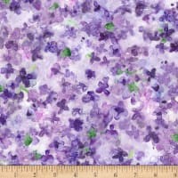 Michael Miller Fabrics Dreaming of Tuscany Packed Petals Purple