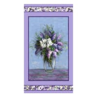 "Michael Miller Fabrics Dreaming of Tuscany Blooming Vase 24"" Panel Purple"