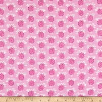Fabric Merchants Marketa Stengl Double Brushed Stretch Poly Jersey Knit Floral Pink
