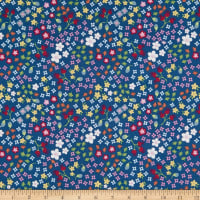 Riley Blake Bloom And Grow Floral Navy