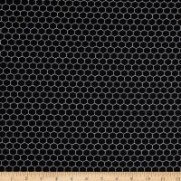 Riley Blake Bees Life Honeycomb Black
