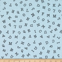 Riley Blake Hungry Animal Alphabet Abc Toss Blue