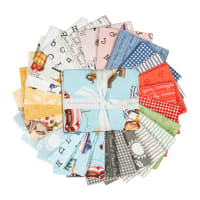 Riley Blake Hungry Animal Alphabet Fat Quarter Bundle 25 Pcs. Multi